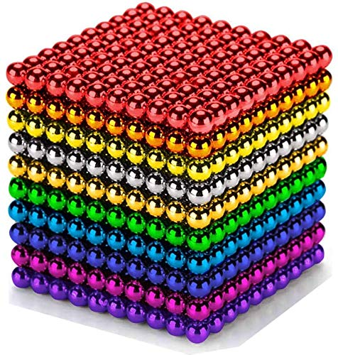 funning 2021 New 1000 pcs 3mm 10 Colors Balls Multicolored Large Cube Building Blocks Sculpture Educational Game Fun Office Toy Intelligence Development Stress Relief Imagination Gift