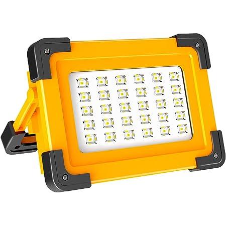 Akkulampe,Campinglampe COB LED Akku Arbeitsleuchte mit USB//Solar Ladung