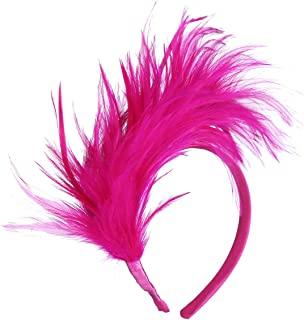 Felizhouse 1920s Fascinator Feathers Headband for Women Kentucky Derby  Wedding Tea Party Headwear Girls Flapper Headpiece 37d5f64bf29