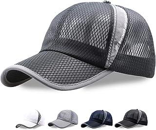 メッシュ キャップ,通気性抜群・日焼け防止・吸湿・速乾・紫外線対策 UVカット 熱中症対策 夏 シンプル ランニング 帽子 調整可能 男女兼用
