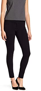 Womens Pants Petite Ankle Tab Front Stretch Black 2P