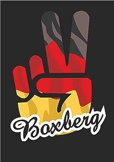 Indigos UG Sticker, autosticker, stickers, Duitsland, stad boxberg, Victory, overwinning, achterruit, kofferbak, laptop, v...