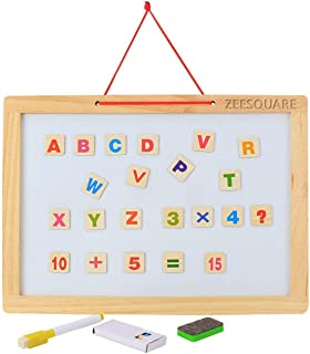 ZeeSquare Kids Early Education Activity Learning Magnetic Board Kit Puzzle Toy Gift Set Wooden Toy for Toddlers, Tabletop ...