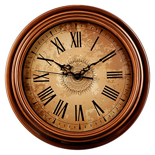 Zaoniy 12-inch Silent Non-Ticking Round Wall Clocks,Decorative Vintage Style Roman Numeral...