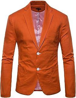 YULUOSHA Men's Slim Fit Casual Coat Peak Lapel Suits Jacket Two Button Business Blazer Separate Jacket