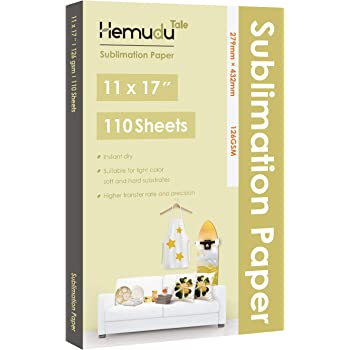 Hemudu Tale Sublimation Paper 110 Sheets 11x17 inch for Heat Transfer DIY Gift Compatible with Any Inkjet Printer with Sublimation Ink