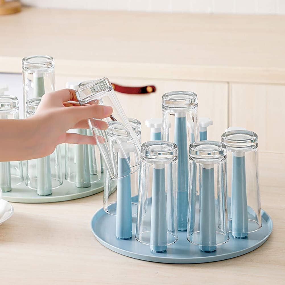secador de Bolsas de pl/ástico y /árbol de Tazas con Fondo Antideslizante para encimera de Cocina Estante para Secado de Tazas Soporte para escurridor de Vasos y Botellas Deportivas