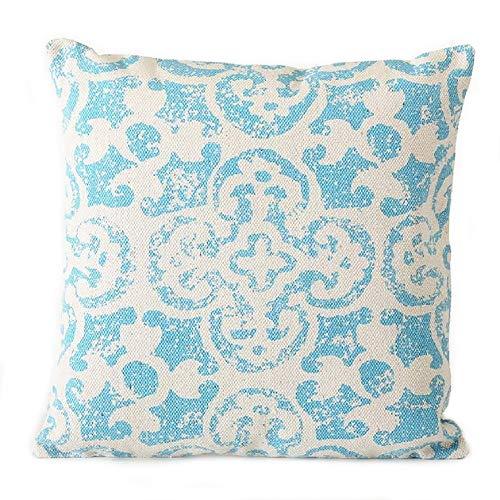 Home Collection Casa Arredamento Decorazione Interni Accessori Tessile Cuscino Decorativo Azzurro Motivo Mattonella Mediterranea
