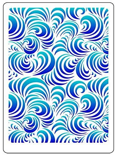 Zita's Creative Schablone 3D - Waves. - Wiederverwendbare Schablone für 3D Strukturen und Mixed Media