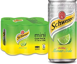 Schweppes Manao Mini Cans, 180ml (Pack of 6)