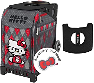 Z?CA INC Zuca Sport Bag - Hello Kitty (Geek Chic) with Gift Black/Pink Seat Cover (Black Frames)