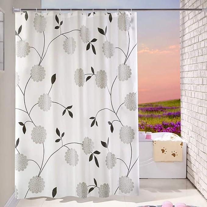 408 opinioni per Bathroom Shower Curtain 180 x 180cm Liner 100% PEVA- 3D Effect Design Waterproof