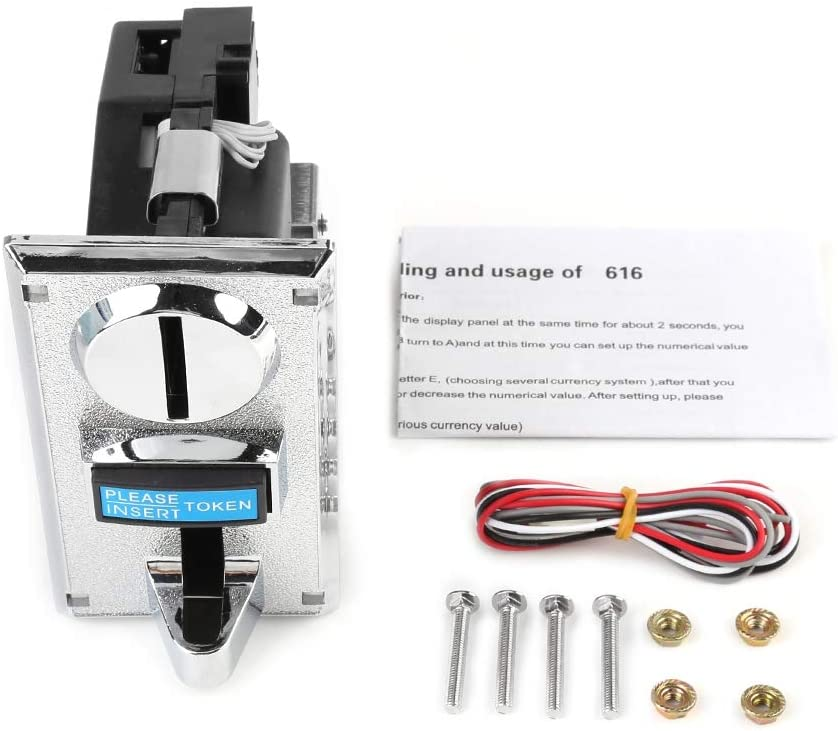 Plastic Multi Coin Acceptor with Brand new Slot Operated Selector Special sale item for