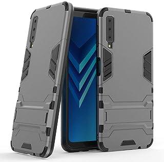 جراب لهاتف Samsung Galaxy A7 2018 (6 بوصة) 2 في 1 مضاد للصدمات مع مسند وغطاء واقٍ هجين مزدوج الطبقات MJ2in1