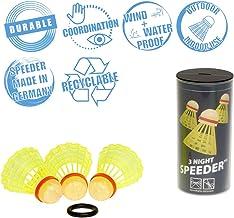 Speedminton Night 3Pk Speeder Tube Birdies for Outdoor Games Speed Badminton/Crossminton