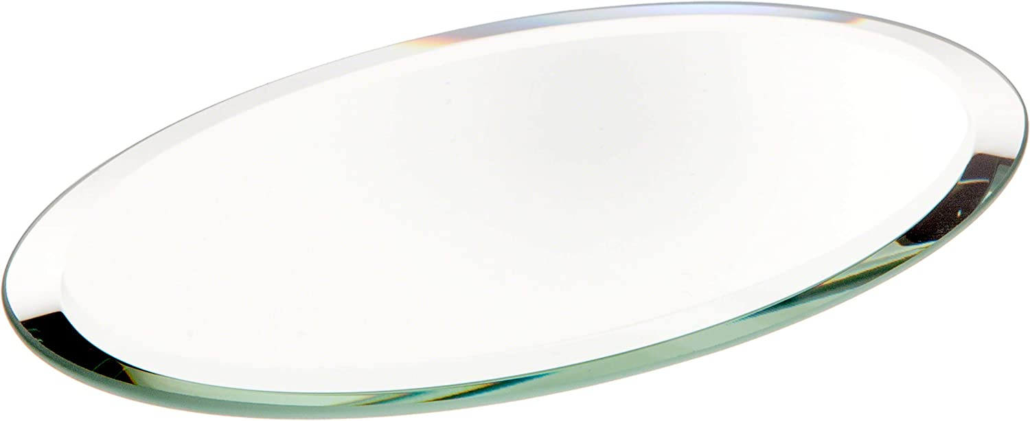 Plymor Oval 3mm Ranking TOP6 Beveled Glass 5 popular Mirror x 3 5 inch