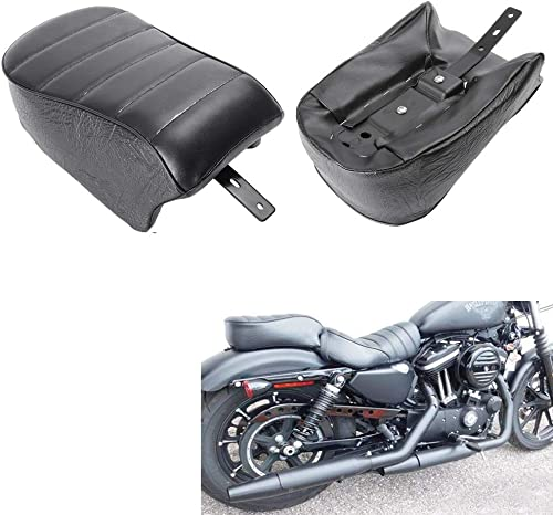 lowest Mallofusa Motorcycle Pillion Seat Pad Passenger online sale Rear Seat 2021 Cushion Compatible for Sportster Iron 883 XL883N 2016 2017 2018 2019 Black outlet online sale