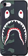 iPhone 7/8 Case Street Fashion Design, Flexible Durable Full-Protective Back Case Cover for iPhone 7/8 4.7inch (Black/Shark)