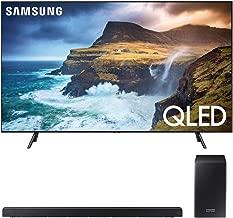 """$2897 » Samsung QN82Q70RA 82"""" Q70 QLED Smart 4K UHD TV 2019 - (Renewed) Bundle with HW-Q60R 360W Virtual 5.1-Channel Soundbar System"""