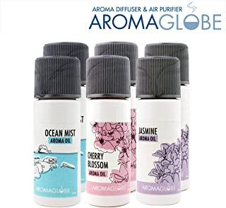 U.S. JACLEAN Aroma Globe Air Washer and Room Revitalizer Aromatizer with Scented Aroma Oils (6 bottles of Combination oil)