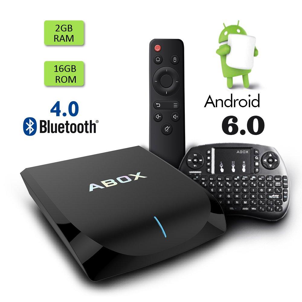 Globmall 2017 Android 6.0 TV Box 2GB/16GB ABOX A2 AmlogicS905X Quad Core 64 Bits CPU