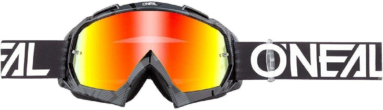 O Neal Fahrrad Motocross Brille Mx Mtb Dh Fr Downhill Freeride Hochwertige 1 2 Mm 3d Linse Für Ultimative Klarheit Uv Schutz B 10 Goggle Erwachsene Unisex Schwarz Weiß One Size