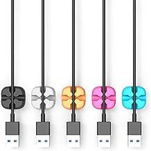 Benedict Juego de 20 clips de almacenamiento de alambre para sujetar la abrazadera de cable de datos para terminar