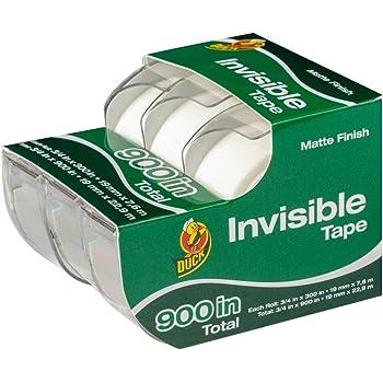 6-Pack Scotch Magic Tape W// Dispenser Refillable 104 Matte 1//2X450 Transparent