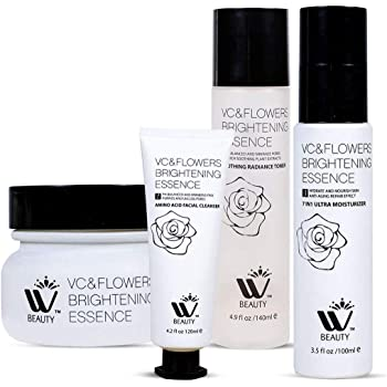 W Beauty Anti Aging Skin Care Kit   4 Beauty Care Products  Facial Moisturizer-Toner-Cleanser And Night Cream  14.4 Oz