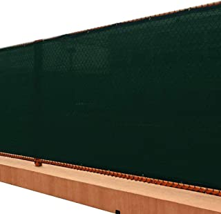 UPGRADE Fence Screen 6' x 50' Privacy Screen Fence with Heavy Duty Grommets for Visibility Blockage & Home Protection - Dark Green
