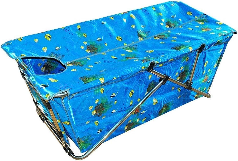 ZH1 Planschbecken Faltende Badewanne, aufblasbare BathBaskets Erwachsene Badbadewanne Kinderpools Verdickung der Isolierung Bad Bars, 134x54x103cm (Farbe   A)