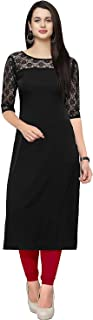 Shiv Retail Women's Crepe and Net Kurti