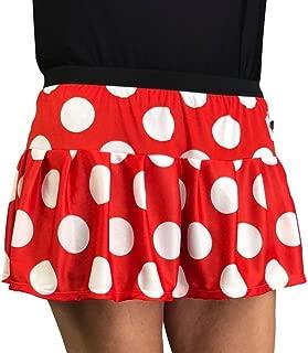 Woman's Red and White Polka Dot Running Skirt   Minnie Mouse Skirt  Minnie Mouse Costume Skirt