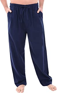 Men's Lightweight Flannel Pajama Pants, Long Printed...