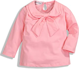 GSHOOTS Toddler Girls' Long Sleeve Peter Pan Collar Shirt