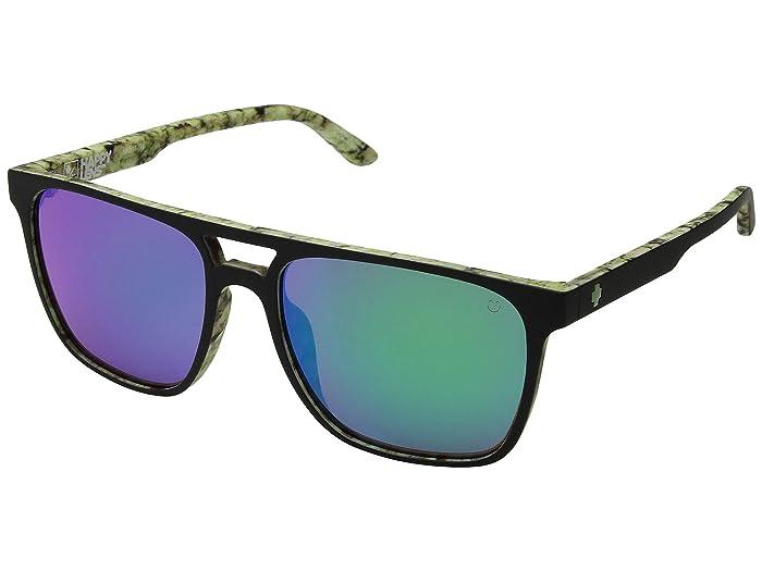 Spy Optic Czar (Matte Black/Kushwall HD Plus Bronze W/Green Spectra Mirror) Athletic Performance Sport Sunglasses