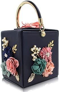 Evening Bag For Women Squared Party Purse Shoulder Handbag Royal Blue