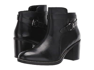 Hush Puppies Hannah Strap Boot (Black Leather) Women