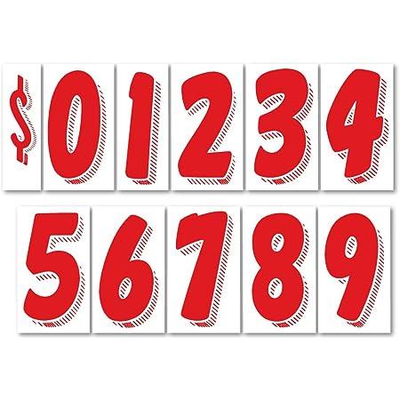 20 dozen packs Car Dealer Windshield Number Stickers 7 1//2 Inch