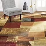 Home Dynamix Catalina Bismark Contemporary Geometric Area Rug 3'3'x5'2' Geometric Brown Beige Orange