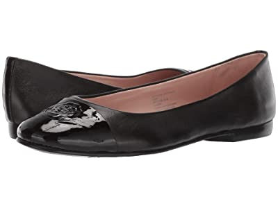 Taryn Rose Adrianna by Taryn Rose Collection (Black Nappa/Black Patent) Women