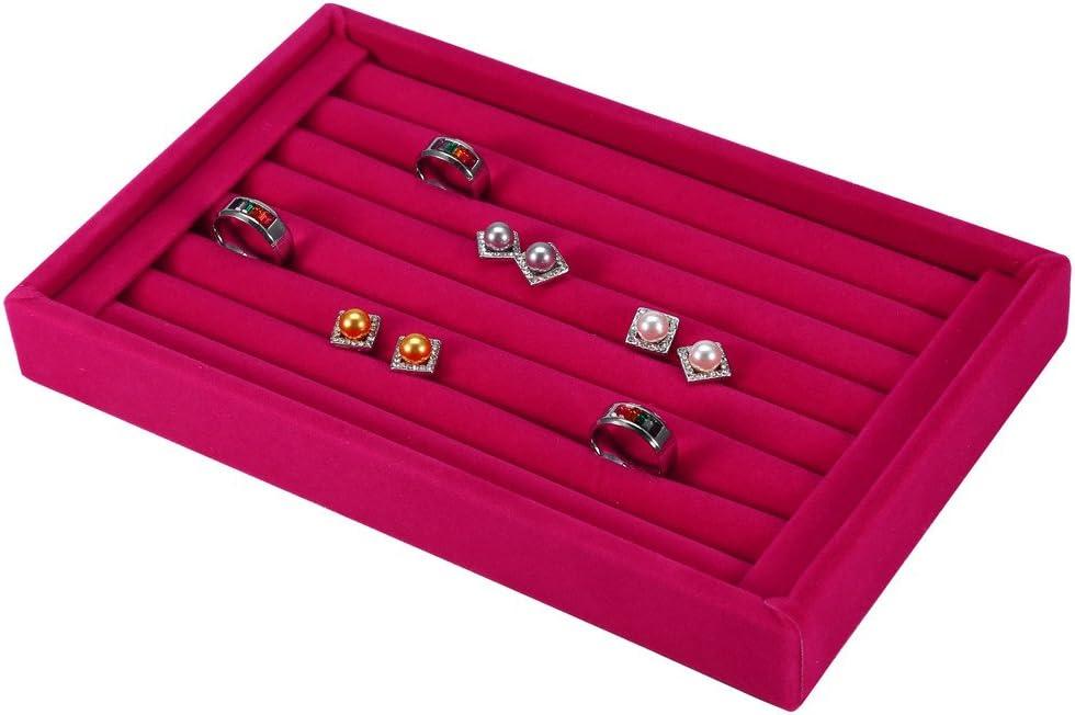 Yinhing Ring Credence Organizer Display Case Popular brand Jewel 7 Fashion Slot Velvet