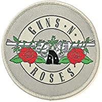 GUNS N ROSES ガンズアンドローゼズ (デビュー35周年記念) - Silver Circle Logo/ワッペン 【公式/オフィシャル】