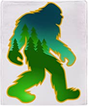 CafePress Sasquatch Forest Scene Soft Fleece Throw Blanket, 50