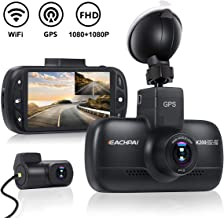 Wi-Fi Car Dash Cam with GPS FHD 1080P & 1080P Dual Dash Cam Front and Rear Dash Camera for Cars,DVR Dashboard Camera Recorder with Starvis Night Vision,3.0