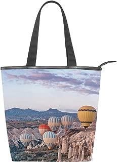 DERLONKAJE Women Compass World Map And Wind Rose Canvas Shoulder Hand Bag Tote Bag