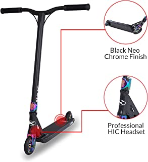 Xspec Complete Pro Stunt Kick Scooter with Freestyle BMX Handlebars, 110mm Wheels &..