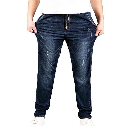 Heheja Homme Grande Taille Jeans Loisir Élastique Denim Pantalon Taille  Haute 2e81b7d77006