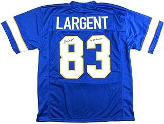 Steve Largent Signed Jersey - Throwback Blue Custom