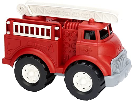 Green Toys Fire Truck - BPA Free Phthalates Free Imaginative Play Toy for Improving Fine Motor Gross Motor Skills. Toys for Kids
